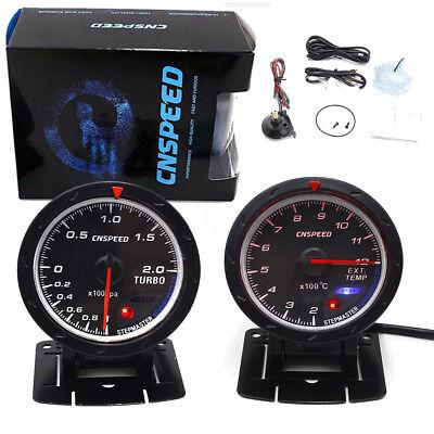 2.5'' 60mm LED Turbo Boost Pressure + Exhaust EGT Gas Temperature Gauge Sensor