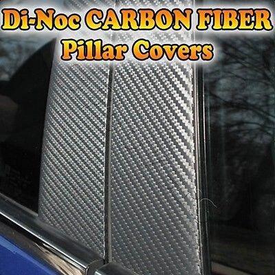 CARBON FIBER Di-Noc Pillar Posts for Dodge Spirit 88-95 4pc Set Door Trim Cover