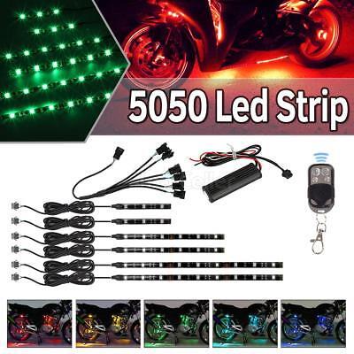 6pc 4/8/12 Motorcycle Under Glow NEON LED Body Engine Frame Lighting Kit 36LED ()
