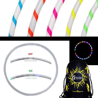 RIA Glow LED Hula Hoop - Multi Coloured 29 LEDs + Travel Bag (Glow Hoop)