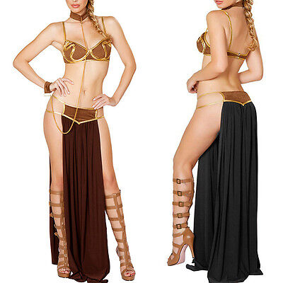 Ladies Cleopatra Roman Egyptian Greek Fancy Dress Up Goddess Halloween Costume - Fashion Bug Halloween Costumes