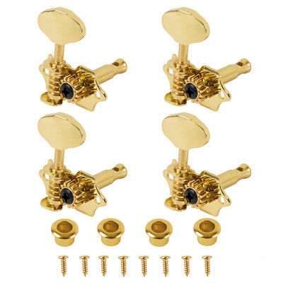 Ukulele Open Machine Heads Tuning Pegs 2R2L for Ukulele 4 String guitar Gold - Gold Machine Heads