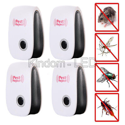 4X Ultrasonic Pest Reject Electronic Magnetic Repeller Mosquito Bug Killer US