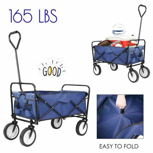Collapsible Folding Wagon Shopping Cart Utility Garden Sport