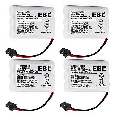 4x 1000mAh Battery For Uniden BT-446 BP-446 BT-1005 ER-P512 TRU-446 TRU-448
