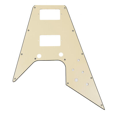 Guitar Pickguard for Guitar Flying V Replacement Parts Cream
