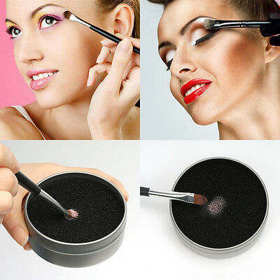Makeup Brush Sponge Cleaner Remover Switch Eye Shadow Color Dry Clean Box