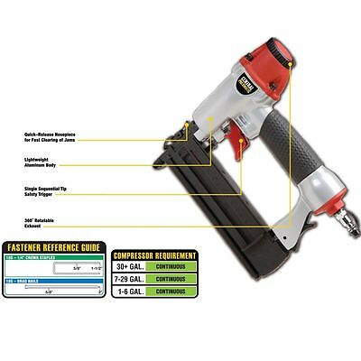 - New 18 Gauge 5/8 to 2In Brad Nailer Air stapler Nail Gun US seller