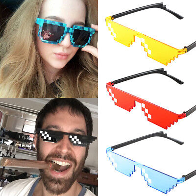 Thug Life Glasses 8 Bit Pixel Deal With IT Sunglasses Unisex Eyewear Eye Glasses - 8 Bit Sunglasses