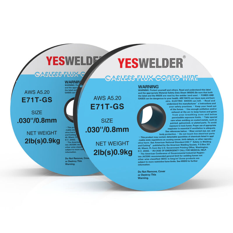E71T-GS .030 in. Dia (2x2lbs) Gasless-Flux Core Wire MIG Welding-4pounds
