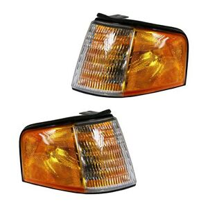 88-94 Ford Tempo Topaz Side Corner Marker Turn Signal Parking Light Pair Set