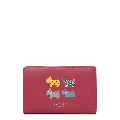 Radley London Quad Dog Medium Zip-Top Purse NEW Pink