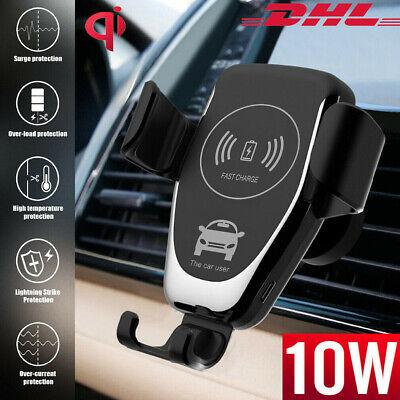 Autoladegerät 10W QI Handyhalterung Auto KFZ Wireless Fast Charger Induktion DHL