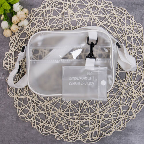 US Women Transparent Bag PVC Jelly Clear Tote Crossbody Shou