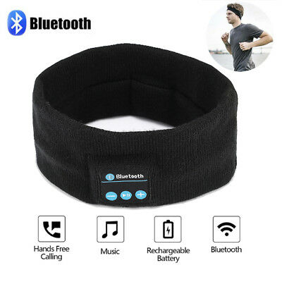 Bluetooth Stereo Music Headphones (Wireless Bluetooth Sports Stereo Headband Headphones Run Gym Sleep Music)