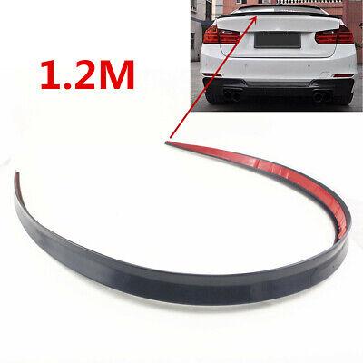 1.2M Black Flexible Rubber Car Vehicle Rear Trunk Roof Boot Spoiler Wing Trim