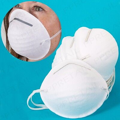 BULK PACK 200x ELASTICATED DUST MASKS Comfortable Disposable PPE Clean DIY Paint