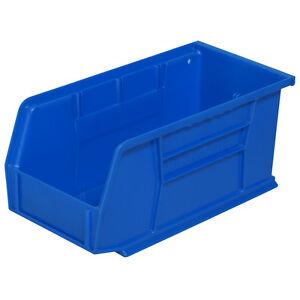 Akro-Mils AkroBin Stack & Hang Bin 10-7/8D x 5-1/2W x 5H Blue  12 pack