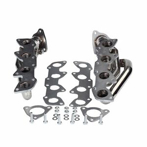 For 2000-2004 Toyota Tundra 4.7L V8 Manzo Performance Stainless Steel Headers