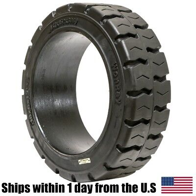 18x6x12.125 18x6x12 18 Solid Press-on Traction Forklift Tire 18612