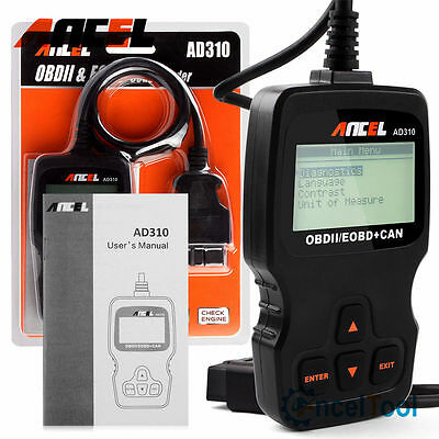 Ancel Ad310 Obd Obd2 Scanner Car Check Engine Fault Code Reader Diagnostic Tool