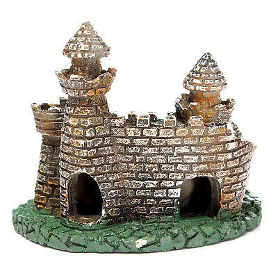 Artificial Aquarium Fish Tank Ornament Castle Tower House Cave Craft DIY Decor ()