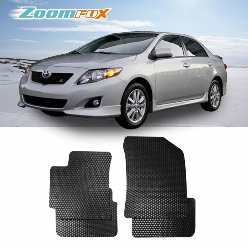 Fit 2009 2013 Toyota Corolla Black All Weather Floor Mats Liners