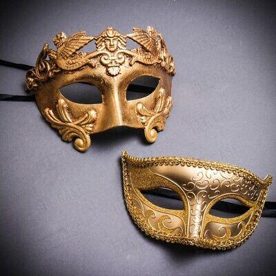 Eye Masks For Parties (Ball Party Venetian Masquerade Eye Masks for Couple Men & Women Pair Set)