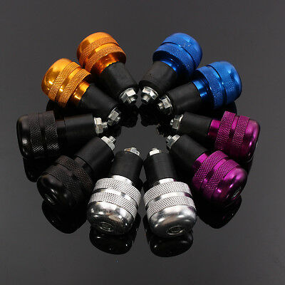 "7/8"" 22mm Universal Motorcycle Aluminum Grips Handle Bar End Plug weights Slider"