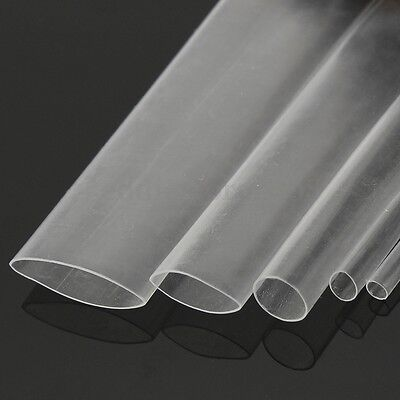 5m 2-12mm Clear Transparent 21 Heat Shrink Tube Wire Cable Sleeving Wrap 16ft