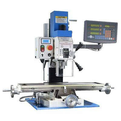 Pm-25mv Vertical Bench Top Milling Machine Wdro Variable Speed Free Shipping