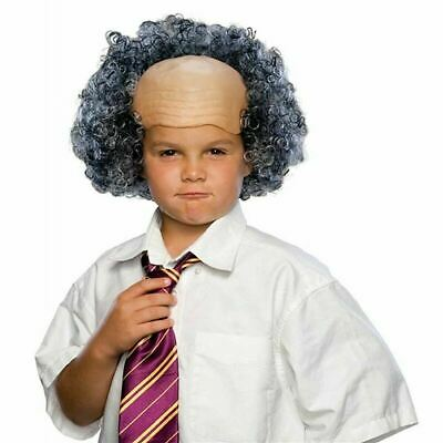 Balding Man Wig (Child Bald Old Man Wig with Curly)