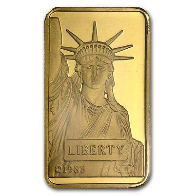 10 Gram Statue Of Liberty Credit Suisse Gold Bar   Sku  45921