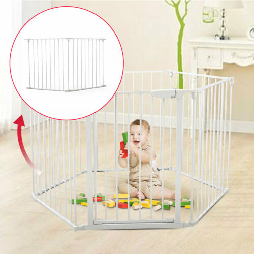 Fireplace Fence Baby Safety Fence BBQ Hearth Gate Metal Fire Gate 2 Panels