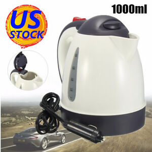 1000mL 12V CAR VAN KETTLE CIGARETTE LIGHTER WATER HEATER BOILER TRAVEL 100° 1.5M
