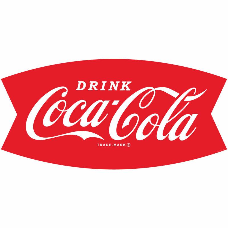 Drink Coca-Cola Fishtail Logo 1960s Wall Decal 24 x 12 Kitchen Decor