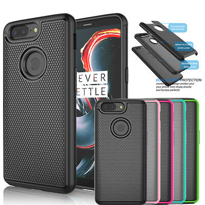For Oneplus 5T Phone Shockproof Armor Hybrid Slim Rubber Impact Hard Case Cover