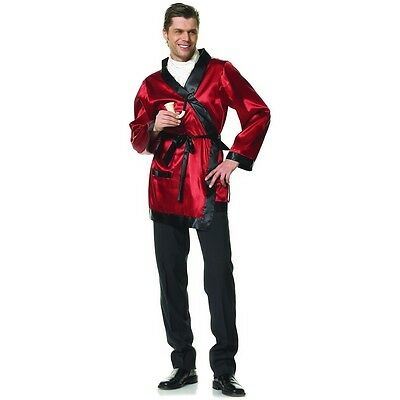 Smoking Jacket Costume Adult Hugh Hefner Halloween Fancy - Hugh Hefner Halloween