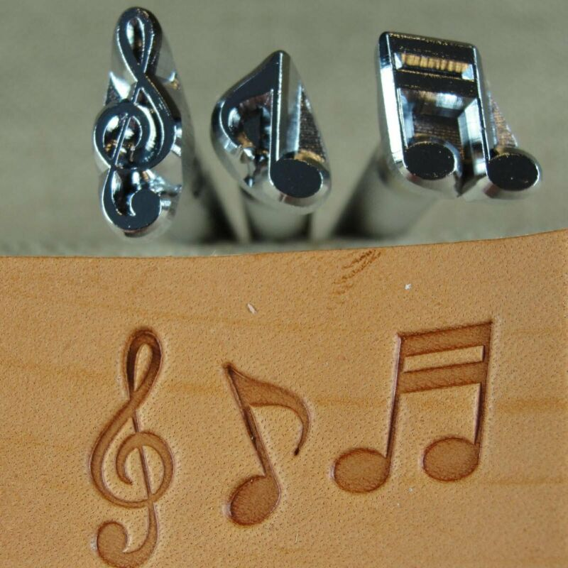 Craft Japan - Music Note Stamps (3-Piece Set, Leather Stamping Tools)