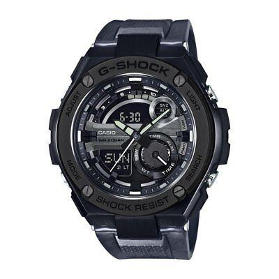 Casio Mens G Steel Gst210m 1A Super Illuminator World Time Resin 52 5Mm Watch