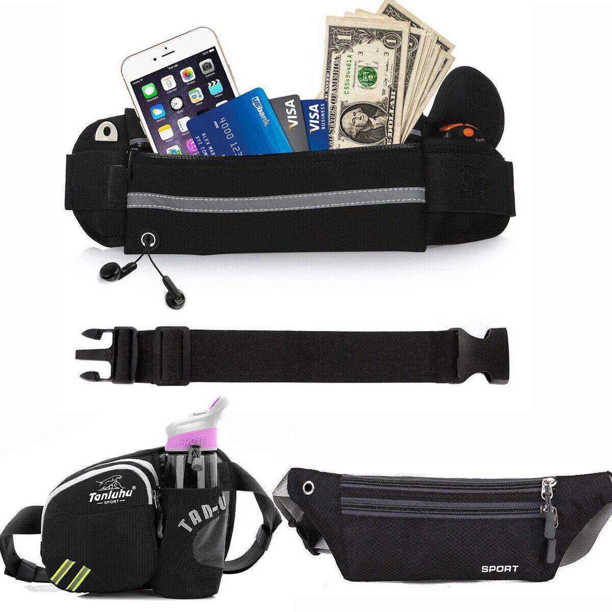Ultra Slim Sport Waist Bum Belt Bag Running Jogging Hiking Zip Fanny Pack Pouch