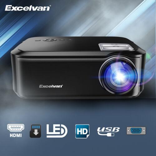 Excelvan Beamer Video Projektor Full HD 1080P LED 3D Heimkino Beamer 7000:1 WIFI