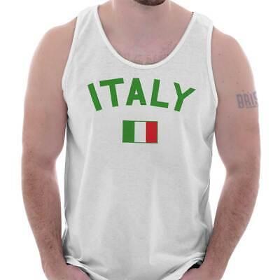 Italy Country Flag Nation Italian Soccer Adult Tank Top T-Shirt Tees Tshirt Soccer T-shirt Tank Top