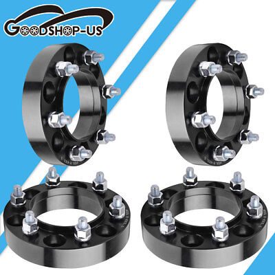4x 125 6x55 12x15 HubCentric Wheel Spacers For 2000 2006 Toyota Tundra Black
