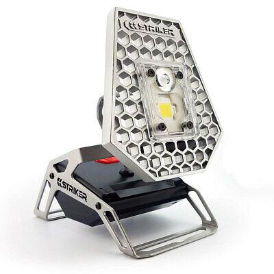 Striker LED Task Work Light Portable Rechargeable 1200 Lumen Adjustable Compact