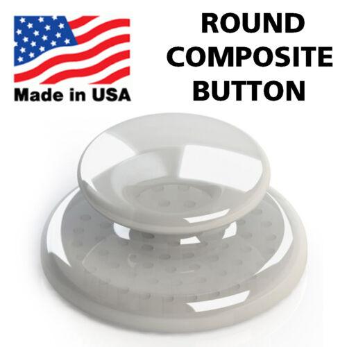 Dental Orthodontic Composite Ceramic Lingual Button Bondable Round Base - 10 PCS