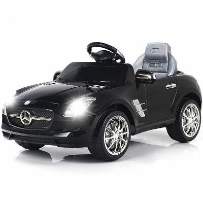 BLACK MERCEDES BENZ SLS R/C MP3 KIDS RIDE ON CAR ELECTRIC BA