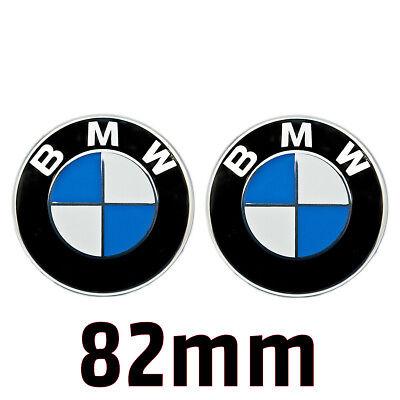 2x BMW Emblem 82mm Haube Logo für Vorne Hinten Motorhaube Heckklappe Kofferraum online kaufen