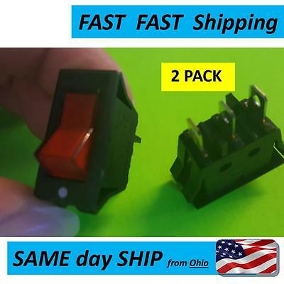 Red Light Lamp On/Off SPST  Rocker Switch 15A 220V 240V appliance home etc.