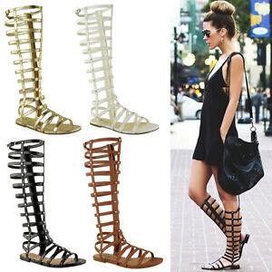sandales femme spartiates hautes